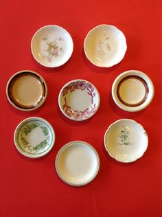 Vintage Butter Pats, Vintage Butter Plates Collection. $42.50, via Etsy.