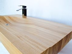 SobotaDesign - Wooden sink and bathtub - wooden basin Wooden Bathtub, Wooden Bathroom, Sink Design, Wood Design, Wood Sink, Bathroom Vanity Units, Bars For Home, Amazing Bathrooms, Bathroom Interior