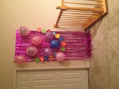 Birthday Surprise on kids door.