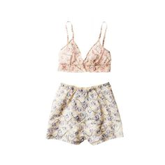 Floral Spring Fashion Trends - New Floral Fashions - Marie Claire ❤ liked on Polyvore featuring underwear, lingerie, shorts and tops