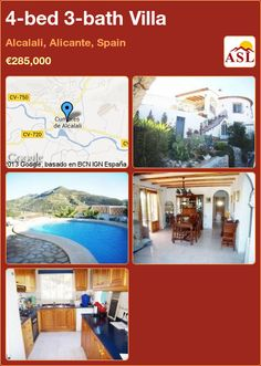 4-bed 3-bath Villa in Alcalali, Alicante, Spain ►€285,000 #PropertyForSaleInSpain