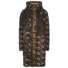 Self-Portrait Lace Parka Jacket (2.870 BRL) ❤ liked on Polyvore featuring outerwear, jackets, parka jacket, hooded jacket, shiny jacket, oversized parka and hooded parka