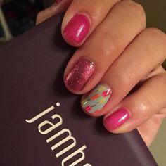 """The perfect mani! #raspberrysparklejn #mayhostessexclusivejn #trushinejn #beyoujn #jamberry #jamcon2015 #musthavenails #nails #nailart #NailWraps…"""