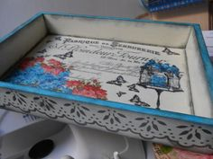 Todo transfer Decoupage, Arte Country, Mixed Media Art, Stencils, Decorative Boxes, Shabby Chic, Bottles, Painting, Home Decor
