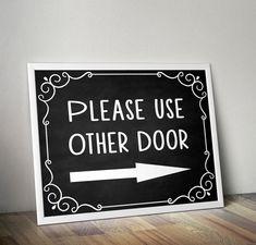 Please use other door Please use front door by HappyDigitalStudio