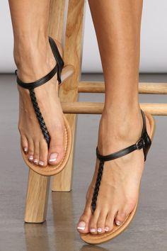 Pretty Sandals, Beautiful Sandals, Beautiful Toes, Sexy Sandals, Girls Sandals, T Strap Sandals, Cute Womens Shoes, Flipflops, Foot Pics