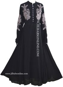 AREEBA EMBROIDERED ABAYA (black) - jilbabs online
