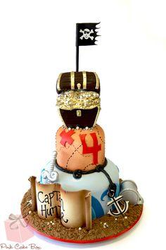 Hunter's 4th Birthday Pirate Cake!  Happy Birthday Hunter!  Credit for design to Royalty Cake.