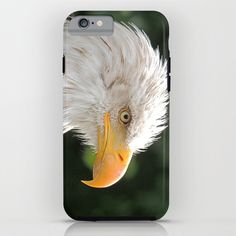 MM - Bald eagle in profile iPhone & iPod Case Nature, raptor,animal,bird, face, portrait