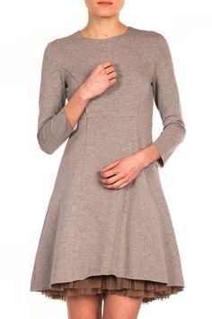 Sukienka z efektowną podszewką z tiulu Tunic Tops, Sweaters, Dresses, Women, Fashion, Vestidos, Moda, Women's, Pullover