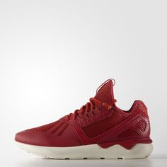 A '90s runner launches into the fashion stratosphere. These men's shoes build on the legacy of the 1993 Tubular runner, re-creating it as a modern street-style sneaker. This festive version of the shoes celebrates Chinese New Year with an all-red upper with golden accents. The EVA tube outsole draws its inspiration from inflatable tires.