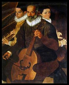 5 string viol, painting by Benedetto Floriani, 1568, Italian