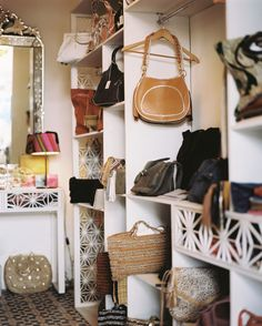 Handbag Display design ideas and photos to inspire your next home decor project or remodel. Check out Handbag Display photo galleries full of ideas for your home, apartment or office.