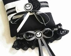 Batman Garter and Ring Pillow Set by scarboroughrose on Etsy