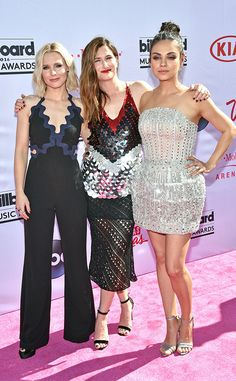 Kristen Bell, Kathryn Hahn & Mila Kunis from Billboard Music Awards 2016 Red Carpet Arrivals  The gorgeous cast of the upcoming comedy Bad Moms walked the pink carpet together in Las Vegas.