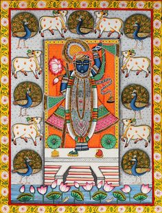 Indian Painters & their paintings have a deep connection with Folk Art of India. Visit us today & buy unique art paintings for living room online. Pichwai Paintings, Indian Art Paintings, Mural Painting, Mural Art, Fabric Painting, Artist Painting, Buddha Painting, Tanjore Painting, Krishna Painting