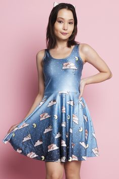 Cloud Dreams Skater Dress - $79.00 AUD