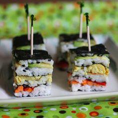 Vegan sushi stack