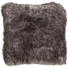 Wilke Rustic Lodge Steel Grey Faux Fur Pillow 20x20 ($93) ❤ liked on Polyvore featuring home, home decor, throw pillows and faux fur throw pillow