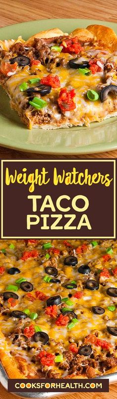 Diet Plan fot Big Diabetes - Weight Watchers Taco Pizza Doctors at the International Council for Truth in Medicine are revealing the truth about diabetes that has been suppressed for over 21 years. Ww Recipes, Light Recipes, Mexican Food Recipes, Cooking Recipes, Healthy Recipes, Recipes Dinner, Healthy Options, Lunch Recipes, Healthy Foods