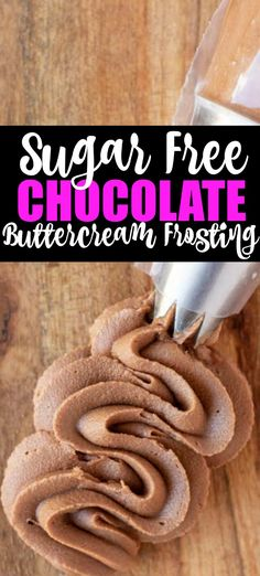 Sugar Free chocolate Buttercream Frosting This Low Carb Chocolate Buttercream is the perfect sugar free chocolate frosting recipe. Easy to make Keto and Low Carb chocolate frosting that is smooth and perfect for any dessert! Sugar Free Chocolate Frosting Recipe, Sugar Free Frosting, Chocolate Buttercream, Buttercream Frosting, Chocolate Cupcakes, Sugar Free Deserts, Sugar Free Sweets, Sugar Free Recipes, Sugar Free Cakes