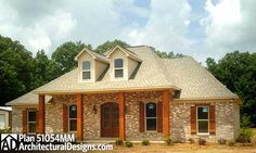 Twelve Foot Great Room Ceilings - 51054MM | Acadian, French Country, Southern, Photo Gallery, USDA Approved, 1st Floor Master Suite, Bonus Room, Butler Walk-in Pantry, CAD Available, PDF, Split Bedrooms, Corner Lot | Architectural Designs
