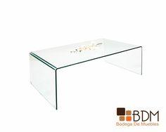 Mesa para sala de cristal.
