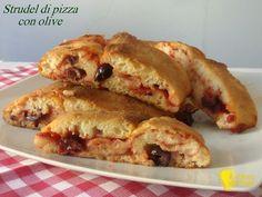 Strudel di pizza con olive (ricetta buffet)