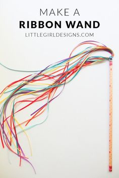 How to Make a Ribbon Wand: Make a no-sew ribbon wand with just a few supplies @ littlegirldesigns.com