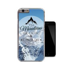 The Mountains Are Calling And I Must Go iPhone by 38kVinylGraphics