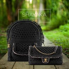 Chanel Backpack in Black Crochet Braid and Gold Hardware | 36 x 28 x 18 cm | Chanel Cuba Cruise 2017 Collection | Available Now Chanel Classic Flap Bag in Black Crochet Braid and Gold Hardware | 16 x 28 x 6 cm | Chanel Cuba Cruise 2017 Collection | Available Now For purchase inquiries, please contact sales@shayyaka.com or +961 71 594 777 (SMS, WhatsApp, or iMessage) or Direct Message on Instagram (@Shayyaka) Guaranteed 100% Authentic | Worldwide Shipping | Bank Transfer or Credit Card