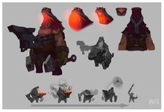 Living Forge (Ornn) Early Concepts, Joshua Brian Smith on ArtStation at https://www.artstation.com/artwork/An0R5