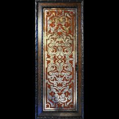 Verre Eglomise/Reverse Painted Mirror & Glass