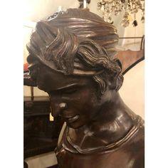 Vintage Life-Sized Bronze of David Slaying Goliath Signed A. Mercier - Image 6 of 13