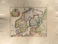 Ancient Maps  Sweden/Norway   Cm. 79 x 59 Inches di OldDecorPrints