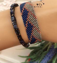 Seed Bead Tutorials, Beading Tutorials, Beading Patterns, Seed Bead Jewelry, Bead Jewellery, Beaded Jewelry, Loom Bracelet Patterns, Bead Loom Bracelets, Peyote Beading