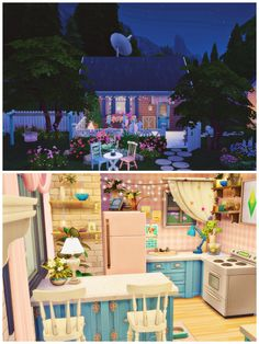 The Sims 4 Pack, Sims 4 Cc Packs, Sims 4 House Plans, Sims 4 House Building, Sims 4 Houses Layout, House Layouts, Sims 4 Loft, Sims 4 Kitchen, Sims 4 House Design