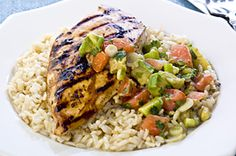 Grilled Chicken with Avocado Salsa Image 1