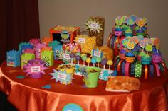 monster themed birthday party | ... and friendly little monsters were the theme of this 1st Birthday