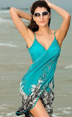 Saida De Praia Women's Swimsuit Beach Dress/Cover Up 2 Styles One Size