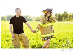 """Todd Waterman: """"I dated Kris Jenner for a year and a half"""" Firefighter Engagement Photos, Firefighter Wedding, Firefighter Love, Engagement Couple, Engagement Pictures, Engagement Ideas, Couple Photography, Engagement Photography, Photography Poses"""