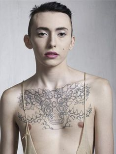 Edward V. III, Paris, June 2011. Bettina Rheims' body of work Gender Studies, depicts transsexuals, women that have become men, men that have become women and a third gender; those that preferred not to choose a sex and exist as both, adopting a dual identity.