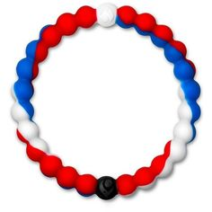 Women's Lokai Wear Your World Bracelet ($18) ❤ liked on Polyvore featuring jewelry, bracelets, red white and blue, beading jewelry, beaded jewelry, red bangles, beads jewellery and red jewelry