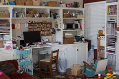 Studio work area/bookshelf