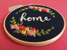 Floral embroidery,Embroidery hoop art,Modern embroidery,Hand embroidery,Personalized custom embroidery,Housewarming,Zezehandcraft by zezehandcraft on Etsy https://www.etsy.com/listing/518054201/floral-embroideryembroidery-hoop