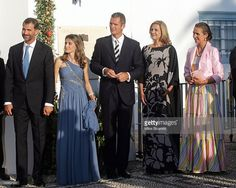 Prince Felipe of Spain, Princess Letizia of Spain arrive for the wedding of Prince Nikolaos and Miss Tatiana Blatnik at the Cathedral of Ayios Nikolaos (St. Nicholas) on August 25, 2010 in Spetses, Greece. Representatives from Europe's royal families will join the many guests who have travelled to the island to attend the wedding of Prince Nikolaos of Greece, the second son of King Constantine of Greece and Queen Anne-Marie of Greece and Tatiana Blatnik an events planner for Diane Von…