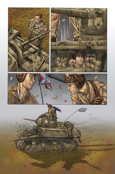 Stuart Tank in Sgt Rock 3 by DustinYee.deviantart.com War Comics, Archie Comics, Tank Wallpaper, Comic Art, Comic Books, Us Armor, Adventure Movies, Classic Comics, Pulp Art