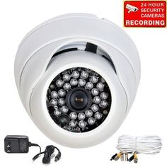 "VideoSecu 700TVL Day Night IR CCTV Wide Angle Home Surveillance Security Camera Built-in 1/3"" SONY Effio CCD Vandal Proof Outdoor 3.6mm Lens with Power Supply and Camera Extension Cable CBE by VideoSecu. $105.99. This IR day night dome security camera is constructed of die-cast aluminum. Built-in 1/3"" Sony Effio sensor, and 700 lines of resolution. In low light or night situations the IR Dome has a photo sensor that switches the camera to B/W. This is further ..."