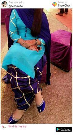 Embroidery Suits Punjabi, Embroidery On Kurtis, Kurti Embroidery Design, Ladies Suits Indian, Suits For Women, Designer Punjabi Suits, Indian Designer Wear, Abaya Fashion, Women's Fashion