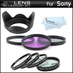 Amazon.com: 55mm Bundle Lens Filter Accessory Kit For Sony A99 a55 a33 a35 SLT-A55 SLT-A33 SLT-A35 A65 SLT-A65V SLT-A57 A57 SLT-A99V SLTA99V SLT-A99 Includes 55mm 3pc High Resolution Multi Coated Filter Kit + 55mm Lens Hood + 4pc +1 +2 +4 +10 55mm Close Up Filter Set: Camera & Photo